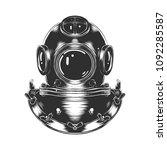 engraved style illustration for ... | Shutterstock . vector #1092285587