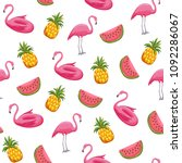 summer seamless pattern with... | Shutterstock .eps vector #1092286067