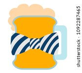 isolated beer with a bowtie icon | Shutterstock .eps vector #1092287465