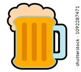 isolated beer icon image | Shutterstock .eps vector #1092287471