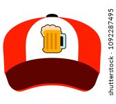 isolated hat with a beer icon | Shutterstock .eps vector #1092287495