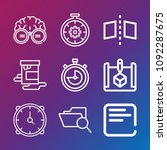 interface icon set   outline... | Shutterstock .eps vector #1092287675