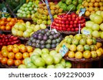 many fresh and ripe exotic... | Shutterstock . vector #1092290039