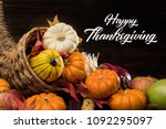 a thanksgiving holiday... | Shutterstock . vector #1092295097