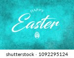 a happy easter greeting on a...   Shutterstock . vector #1092295124