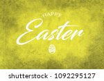 a happy easter greeting on a...   Shutterstock . vector #1092295127