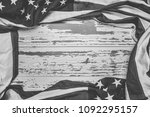 united states flag on white ...   Shutterstock . vector #1092295157