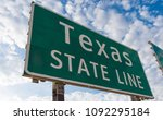 texas state line road sign in...   Shutterstock . vector #1092295184
