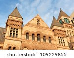 Stock photo old city hall of toronto in gothic style under the sunset light 109229855