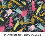 vector seamless pattern with... | Shutterstock .eps vector #1092301181