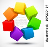 colored cubes 3d. | Shutterstock .eps vector #109230419