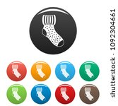 woolen sock icon. simple... | Shutterstock .eps vector #1092304661