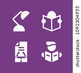 filled reading icon set such as ... | Shutterstock .eps vector #1092304955