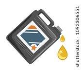 motor oil container on white... | Shutterstock .eps vector #1092306551