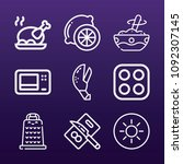 cooking icon set   outline... | Shutterstock .eps vector #1092307145