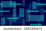 night city lines and stripes ... | Shutterstock .eps vector #1092309671