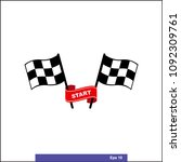 checkered racing flag icon.... | Shutterstock .eps vector #1092309761