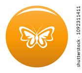 unusual butterfly icon. simple... | Shutterstock .eps vector #1092311411