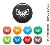 unusual butterfly icon. simple... | Shutterstock .eps vector #1092311429