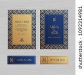 luxury wedding invitation or...   Shutterstock .eps vector #1092314981