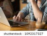 picture of hands  laptop ... | Shutterstock . vector #1092317327