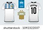 soccer jersey or football kit... | Shutterstock .eps vector #1092322037