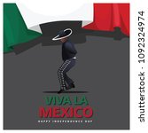 mexico dance male for viva la... | Shutterstock .eps vector #1092324974