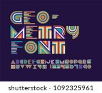 geometry font set | Shutterstock .eps vector #1092325961