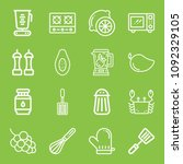 cooking icon set   outline... | Shutterstock .eps vector #1092329105
