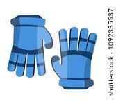 lacrosse gloves. sport gloves.... | Shutterstock .eps vector #1092335537