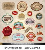 vector set of vintage elements... | Shutterstock .eps vector #109233965