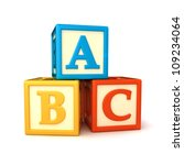 abc building blocks on white... | Shutterstock . vector #109234064