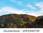 a colorful mountain in autumn... | Shutterstock . vector #1092340739