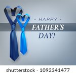 fathers day gift post greeting... | Shutterstock .eps vector #1092341477