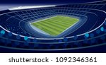 drawing of a stadium full of... | Shutterstock .eps vector #1092346361