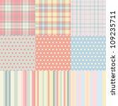 set of seamless backgrounds... | Shutterstock .eps vector #109235711