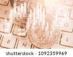 modern way of exchange. bitcoin ... | Shutterstock . vector #1092359969