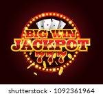casino vector golden slots... | Shutterstock .eps vector #1092361964