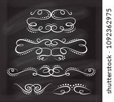 vector calligraphic flourishes... | Shutterstock .eps vector #1092362975