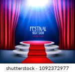 showroom background with a red... | Shutterstock .eps vector #1092372977