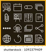 set of 16 web outline icons...   Shutterstock .eps vector #1092379409