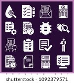 set of 16 test filled icons...   Shutterstock .eps vector #1092379571
