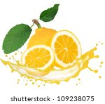 lemon with splash isolated on... | Shutterstock . vector #109238075