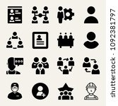 set of 16 user filled icons... | Shutterstock .eps vector #1092381797