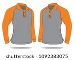 long sleeve shirt design  ...   Shutterstock .eps vector #1092383075