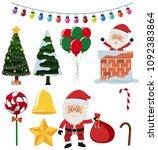 a set of christmas element...   Shutterstock .eps vector #1092383864