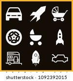 set of 9 transport filled icons ... | Shutterstock .eps vector #1092392015