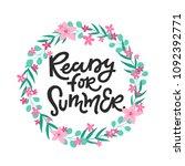 ready for summer. vector card | Shutterstock .eps vector #1092392771
