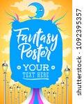 fantasy conceptual poster... | Shutterstock .eps vector #1092395357