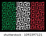 italy flag flat mosaic made... | Shutterstock .eps vector #1092397121